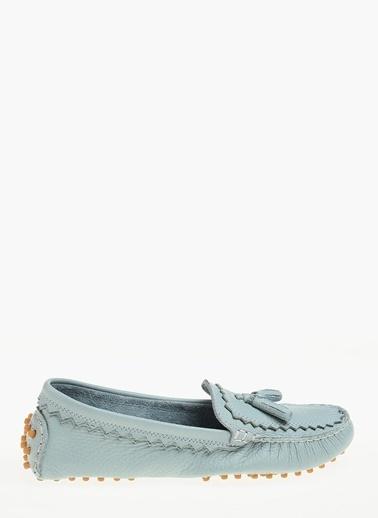 Divarese %100 Deri Loafer Ayakkabı Mavi